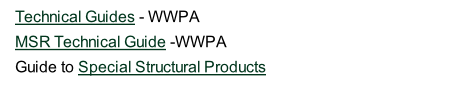 Technical Guides - WWPA  MSR Technical Guide -WWPA  Guide to Special Structural Products